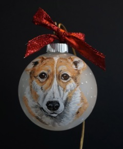 custom painted dog ornaments