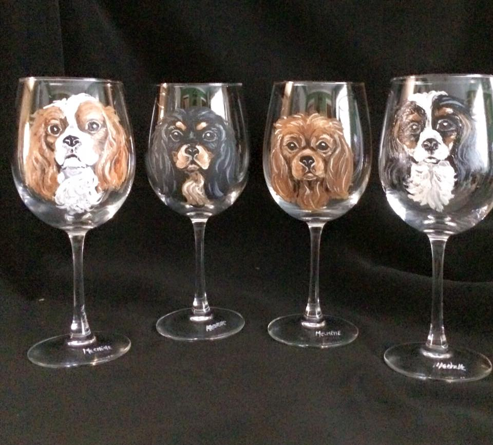 Very best Custom Hand Painted Wine Glasses Showcase Your Pet XR84
